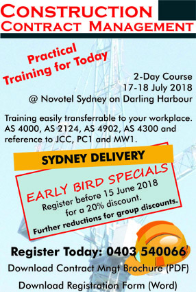 Construction Contract Management Training Sydney