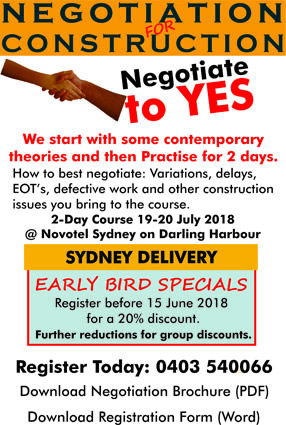 Negotiation in Contract Management Sydney